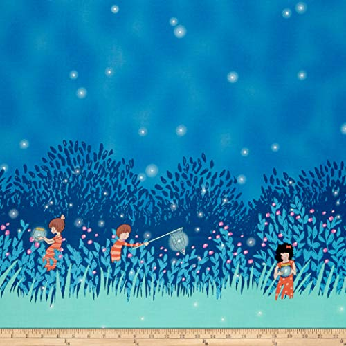 Michael Miller 0329668 Wee Wander Summer Night Lights Double Border Twilight Fabric by The Yard, - Fabric Miller Michael Quilt