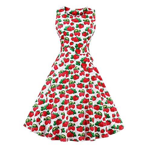 Coolred-femmes Taille Plus Robe Sans Manches Imprimé Hepburn Cru Robe De Soirée 2