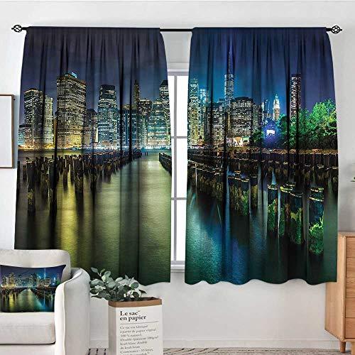 Anzhutwelve New York,Bocking Ight Rod Curtains Pier Pilings and Manhattan 42