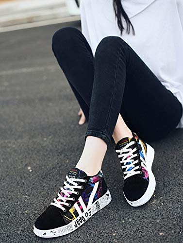 Traspirante Donna Sportive Da Traspiranti Casual In Sneaker Scarpe Ginnastica Graffiti Tela Ysfu Leggero qvWOSwHn