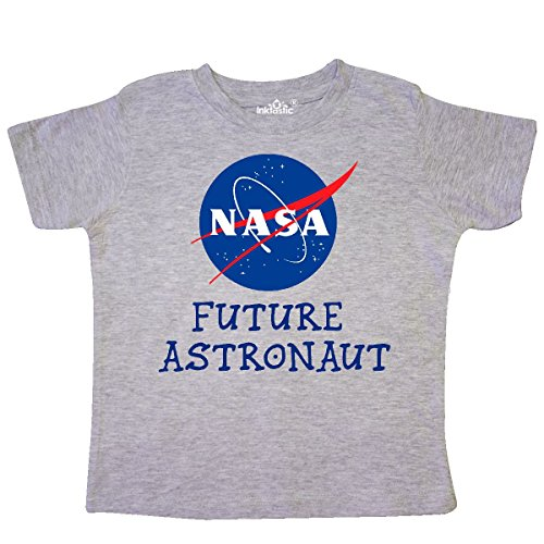 inktastic NASA Logo Future Astronaut Toddler T-Shirt 2T Heather Grey - Future Toddler T-shirt