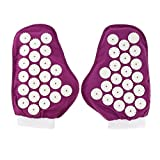 SM SunniMix 1 Pair Deep Tissue Acupuncture Massage Gloves Trigger Point Massager Tool Black Purple - Purple