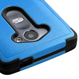LG LEON Case ; Phonelicious (Tm) For LG POWER (L22C) LG LEON (C40) Heavy Duty Rugged Impact Armor Symbiosis Hybrid Dynamic Verge Case Robust Phone Tuff Cover + Premium Clear Screen Protector Combo & Phonelicious® Stylus Pen (BLUE / BLACK TUFF)