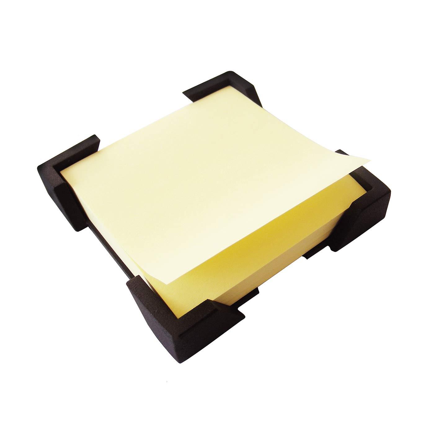 ArtsOnDesk Modern Art Note Holder/Dispenser Bk309 Steel Black Desktop Office Supply Note Pad Desk Accessory Organizer Memo Dispenser Holiday Christmas Gift Self-stick Note by ArtsOnDesk