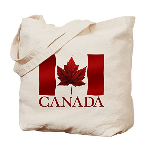 To Natural Maple Leaf Shopping Tote Bag Canada Canvas CafePress Canadian Bag Cloth Gifts Flag Souvenirs w0x4RS