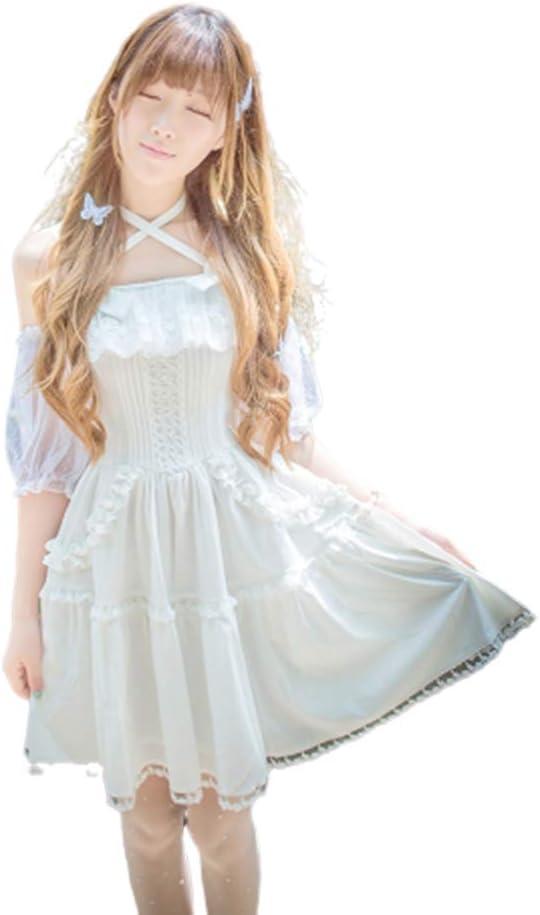 WJX Chica Lolita Vestido, Desfile Plisado Vestidos, JSK Camisa, niños Prom Ball Vestido, Fiesta Boda Dama de Honor Vestidos de Princesa Traje, día de Pascua de los niños,White,M: Amazon.es: Hogar