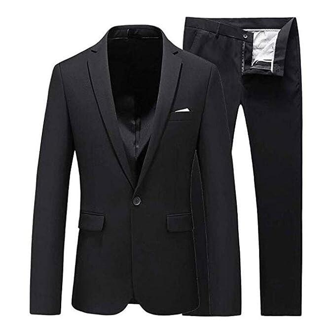Men\u0027s 2 PC Slim Fit Business Suit Peak Lapel Groom Tuxedos