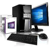 """Shinobee Super Méga Pack - Pack Complet Desktop - LED 22"""" - Claviers de jeu et Souris - Processeur AMD A10-4655 4x2.8 GHz - Mémoire 8Go - Stockage 500Go - USB 3.0 - Windows 10 Pro 64 #5585"""