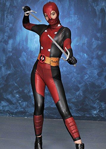 Magic Box Traje para Mujer de Deadpool L (UK 12-14): Amazon ...