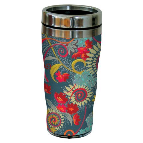 Tree-Free Greetings sg23725 Katherine Wheel Floral Sea Green by Nel Whatmore Travel Tumbler, 16-Ounce