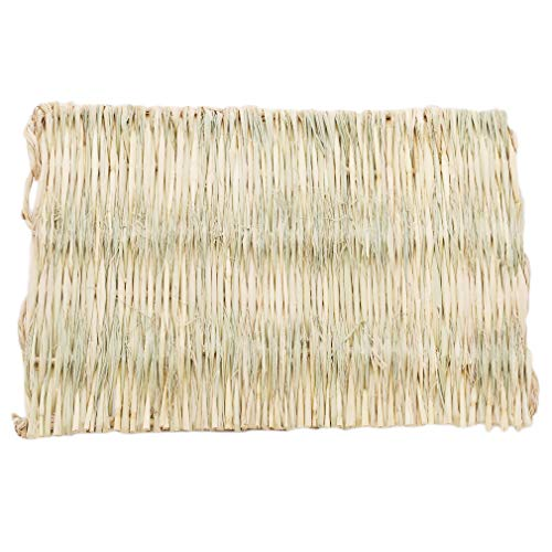DearAnswer Small Animal Chew Toy Beds Natural Handwoven Grass Mats Safe and Edible for Hamsters Rabbits Parrot Guinea Pig and Ferret,40281 - Good Ferret Treats