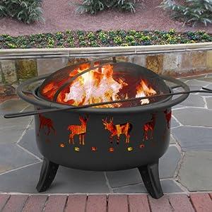Landmann Patio Lights Deer Fire Pit - Black by Landmann USA