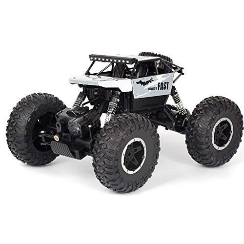 Birdfly Cross-Country RC Climbing Car 1/18 2.4G 4WD 15KM/h Alloy High Tire Off-Road Monster Truck Radio Contral Toy Car (Silver)