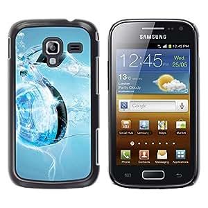 TopCaseStore / la caja del caucho duro de la cubierta de protección de la piel - Music Water Heart - Samsung Galaxy Ace 2 I8160 Ace II X S7560M