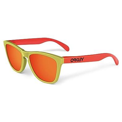 oakley sunglasses unisex  oakley unisex frogskins aquatique sunglasses, lagoon/fire iridium, one size