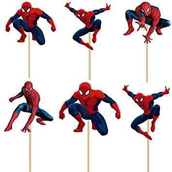 Spiderman Birthday Decoration Theme - Cupcake Spider-Man ...