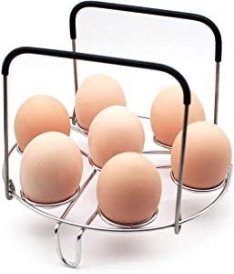 WaterLuu Pressure Cooker Accessories, Upgraded Egg Steamer Rack with Heat Resistant Handles For Instant pot Fits for 5,6,8 Quart Instant pot & Other Pressure Cooker