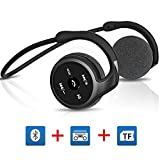 Titita Bluetooth Headset, Bluetooth 4.1 Stereo Over-Ear Sport Bluetooth Headphones 3 in 1(Bluetooth, FM Radio, TF Card Playing 32 GB) Function, Wireless Sweatproof Bluetooth Earbuds(black)