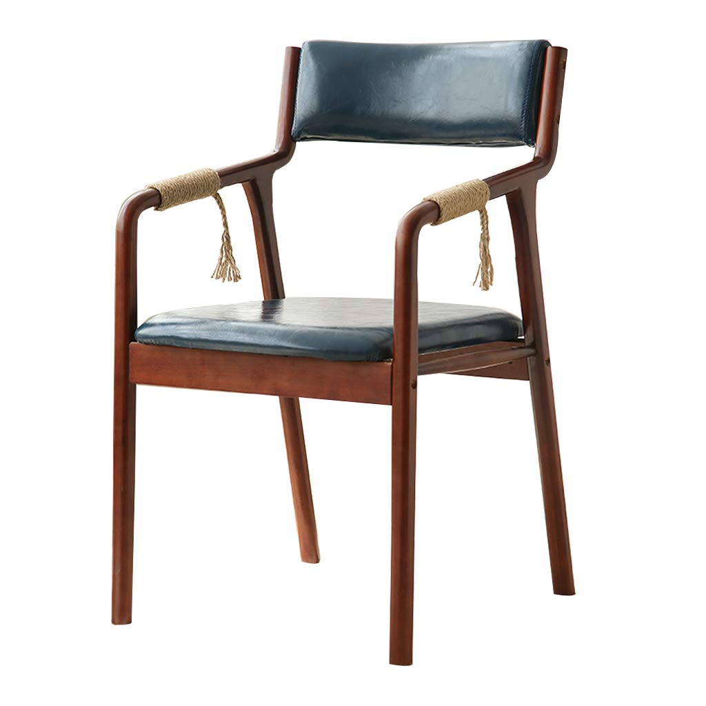 Amazon Com Faux Leather Dining Chairs With Armrest Vintage