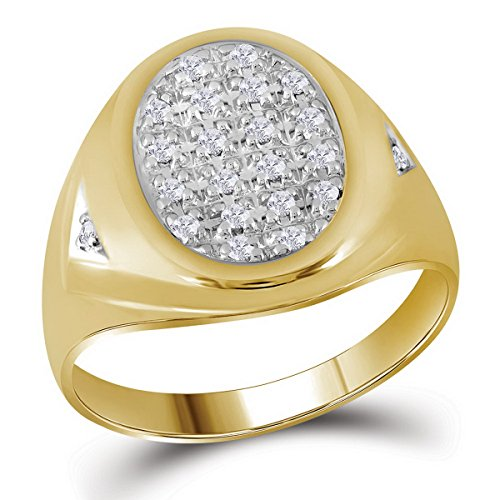 Oval Diamond Cluster Ring - 1