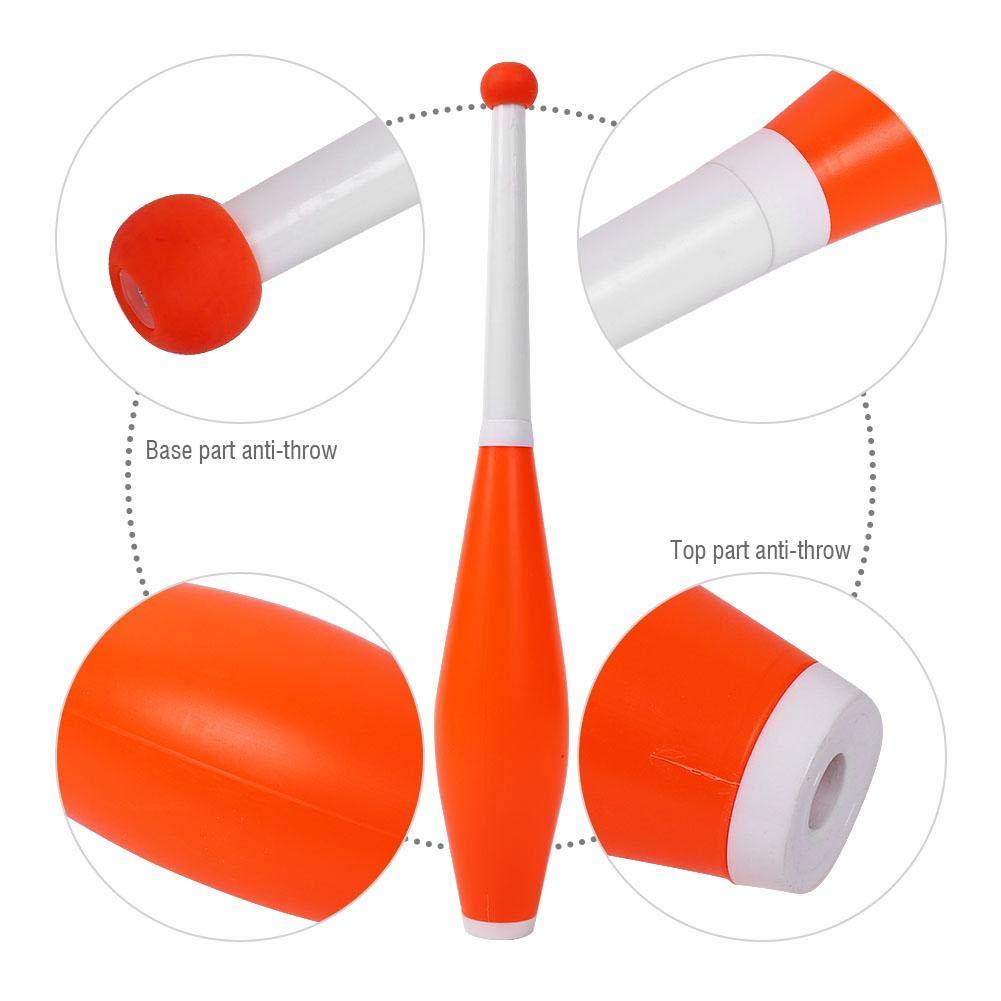 Alomejor Children Juggling Stick Professional Juggling Club Set Kids Outdoor Games Toy Magic Stick Set of 3 (Orange) by Alomejor (Image #6)