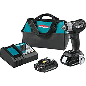 Makita XWT12RB 18V LXT Sub-Compact Brushless 3/8 Impact Wrench Kit, (2) 2.0Ah Batteries
