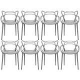 2xhome – Set of 8 Grey Dining Room Chairs – Modern Contemporary Designer Designed Popular Home Office Work Indoor Outdoor Armchair Living Family Room Kitchen Review