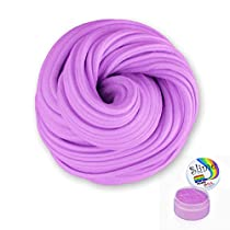 Fluffy Slime, Meland 6 oz Non-Sticky & Non-Toxic Fluffy Floam Slime Stress Relief DIY Toys Scented Sludge Toy Kids Adults, ASTM Certified