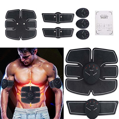 ABDOMINAL TRAINING MUSCLE UNISEX -Portable Smart EMS Abdominal PAD Fitness Gear Exerciser Stimulating Intensive Toning