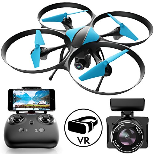 Force1 U49W Blue Heron Drone with Camera Live Video Photography