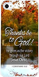 1 Corinthians 15:57 Christian Quote Bible Verses Pattern Print High Quality Hard Plastic Cover Protector Sleeve Case For Apple Iphone 4 4S 4G