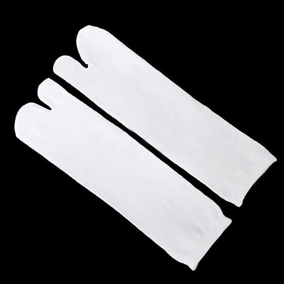 Chen Rui (TM) 1 Pares Calcetines Elásticos 2-toe Calcetines Flip Flop Tabi Conseguir Un Calcetín Calcetines Cosplay (Blanco): Amazon.es: Ropa y accesorios