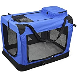 Yaheetech L Indoor/Outdoor Soft Sided Dog House Crate Pet Carrier Kennel Portable Travel Pets Bag Designed for Pet Comfort with Fleece Bedding