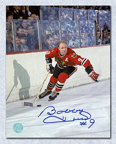 Signed Bobby Hull Picture - 8x10 Golden Jet - Autographed NHL Photos