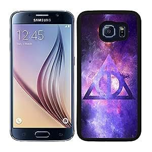 Funda carcasa para Samsung Galaxy S6 diseño nebulosa con triángulo borde negro