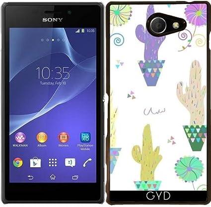 Funda para Sony Xperia M2 - Patrón De Cactus by Luizavictorya72 ...