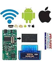 Scanner automotivo portatil obd2 via wi-fi versão 1.5 placa pic18f25k80 compatível iphone android
