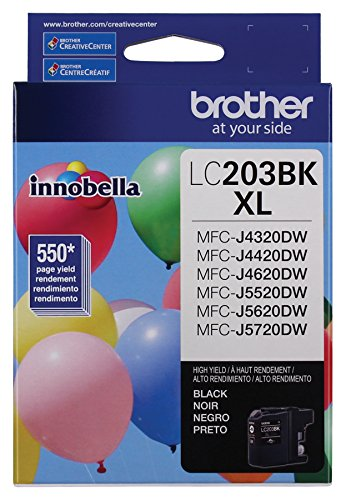 Brother Printer LC203BK Yield Cartridge