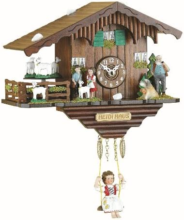 Trenkle Kuckulino Reloj en Miniatura de la Selva Negra casa Suiza Cuarzo con Cabras Que da Vueltas y Llamada del cucú TU 2020 SQ