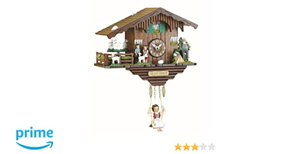Trenkle Kuckulino Reloj en miniatura de la selva negra casa suiza cuarzo con cabras que da vueltas y llamada del cucú TU 2020 SQ: Amazon.es: Hogar