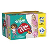 Pampers Easy Ups Value Pack Girl Size 4T/5T Diapers 80 Count, Health Care Stuffs