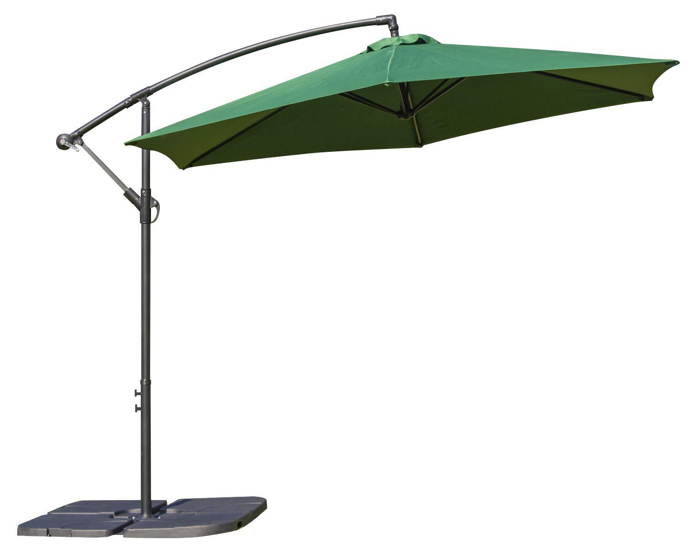 Woodside 3m Garden Hanging Cantilever Banana Parasol Umbrella with Crank /& Tilt