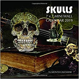 sugar skulls 2020 mini wall calendar day of the dead 7 x 7 7 x 14 open
