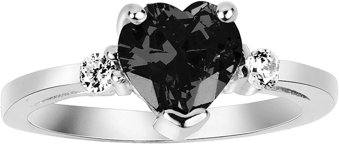 CloseoutWarehouse Clear Cubic Zirconia Simple Crown Ring Sterling Silver