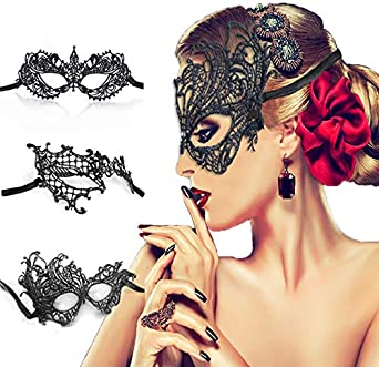 New Stylish Mask Women/'s Lace Eye Mask For Masquerade Halloween Party Prom Ball