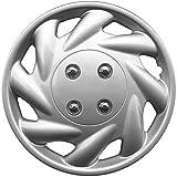 """OxGord WCKT-869-14-SL Wheel Cover/Hub Cap, Silver/Lacquer, 14"""""""