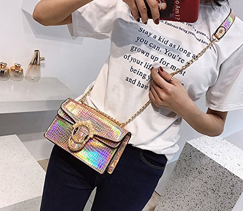 Fashion Crossbody Shiny Party Women Gold3 Holographic Bag Evening Wedding Liliam Girls Shoulder Handbag ZtOffw
