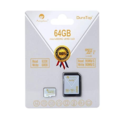 64 GB Micro SDXC SD U3 tarjeta adaptador de Plus Pack ...