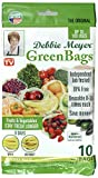 green container - Debbie Meyer 5130614 GreenBags Freshness-Preserving Food/Flower Storage Bags (Various Sizes, 10-Pack)