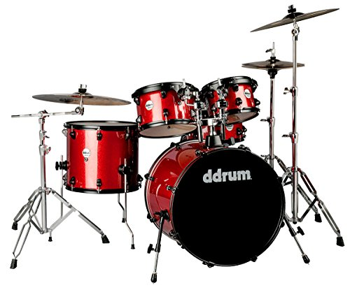 ddrum J2P 522 RSP Piece Drum Set, Red Sparkle